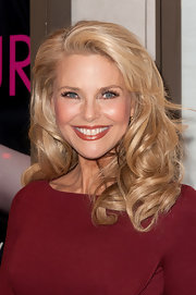 Christie Brinkley wore her golden tresses in voluminous curls at the opening night of 'Venus in Fur' on Broadway.