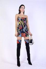 A pair of floral-top boots completed Kendall Jenner's matchy-matchy look.