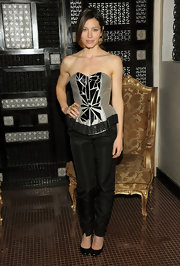 Jessica hit the Victor de Souza show in New York in the designer's shard-embroidered bustier.
