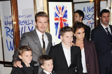 Victoria Beckham;Romeo Beckham Viva Forever - Press Night Arrivals
