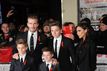 Victoria Beckham;Romeo Beckham 'The Class of 92' Premieres in London