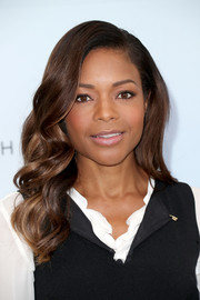 Naomie Harris attended the Victoria Beckham for Target launch wearing her hair in perfectly glam curls.