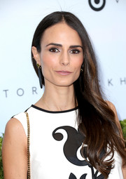 Jordana Brewster wore her long hair down and swept to the side when she attended the Victoria Beckham x Target launch.