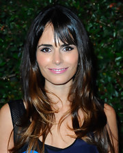 Jordana Brewster wore her hair in smooth layers with long wispy bangs for the premiere of 'My Valentine.'