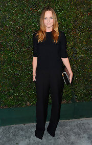 "Stella McCartney looked very polished in her wide-leg trousers at the premiere of Paul McCartney's ""My Valentine"" music video."