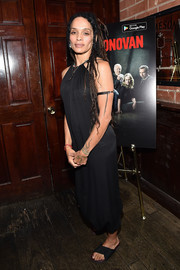 Lisa Bonet attended the 'Ray Donovan' viewing party wearing a simple sleeveless LBD.