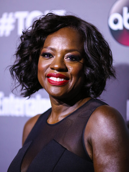 Viola Davis Curled Out Bob [time,hair,face,hairstyle,black hair,chin,lip,smile,long hair,lace wig,line-up,viola davis,tgit,west hollywood,california,abc,toyota,celebration,celebration]