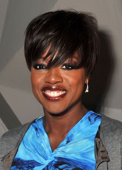 Viola Davis Short Emo Cut [hair,face,hairstyle,eyebrow,black hair,head,bangs,chin,beauty,lip,vera wang,viola davis,front row,lincoln center,new york city,the stage,mercedes-benz fashion week,fashion show]