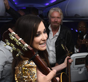 Kacey Musgraves rocked a diamond stud on her nose at the Virgin America Dallas Love Field launch.