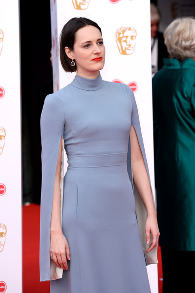 More Pics of Phoebe Waller-Bridge Red Lipstick (1 of 8) - Makeup Lookbook - StyleBistro [hair,clothing,red carpet,dress,carpet,hairstyle,fashion,beauty,premiere,fashion model,phoebe waller-bridge,england,london,the royal festival hall,virgin media,red carpet arrivals,british academy television awards]
