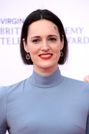 Phoebe Waller-Bridge wore her hair in a simple center-parted bob at the 2019 Virgin Media British Academy Television Awards.