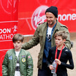Cruz Beckham and David Beckham