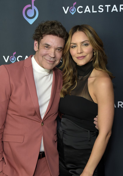More Pics of Katharine McPhee Long Wavy Cut (1 of 24) - Katharine McPhee Lookbook - StyleBistro [vocal star - arrivals,george caceres,vocal star,katharine mcphee,suit,formal wear,event,fashion,premiere,tuxedo,cocktail dress,dress,tie,long hair,music seminar,loews hollywood hotel,hollywood,california]
