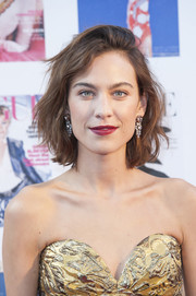 Alexa Chung attended the Vogue 100 Festival Gala wearing a short, tousled 'do.