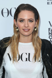 Jesinta Campbell was punk-glam at the Vogue American Express Fashion's Night Out in Melbourne wearing this gelled ombre hairstyle.