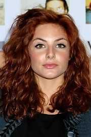 Tamsin Egerton rocked her fiery curls at the Vogue Festival 2012.