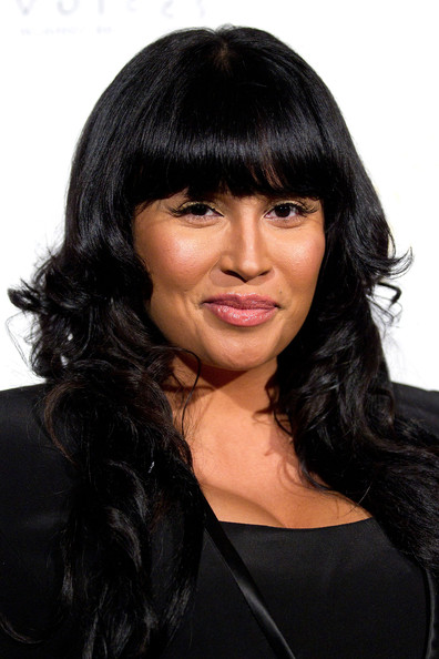 More Pics of Somaya Reece Long Curls with Bangs (1 of 2) - Somaya Reece Lookbook - StyleBistro