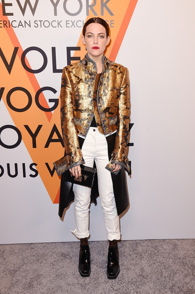More Pics of Riley Keough Chignon (1 of 6) - Riley Keough Lookbook - StyleBistro [clothing,fashion,street fashion,outerwear,fur,fashion model,fashion design,fashion show,footwear,jeans,vogez,riley keough,volez,new york city,voyagez - louis vuitton exhibition opening]