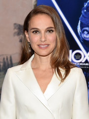 Natalie Portman wore her hair in an elegant side-parted style at the New York screening of 'Vox Lux.'