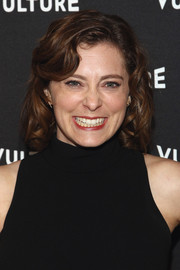 Rachel Bloom sweetened up her look with this short curly 'do for the Vulture awards season party.
