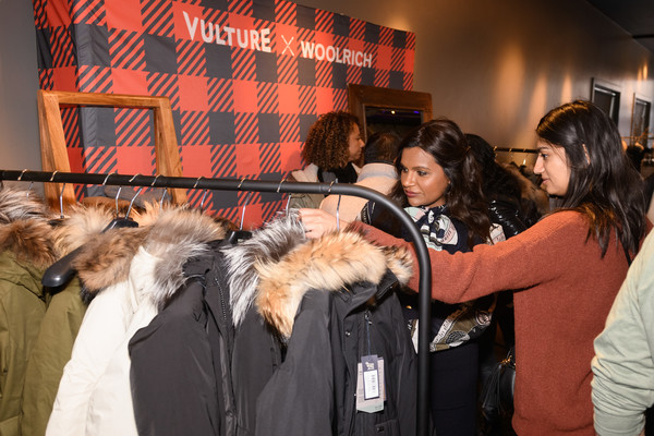 More Pics of Mindy Kaling Wool Coat (4 of 23) - Mindy Kaling Lookbook - StyleBistro [the vulture spot,fur,fur clothing,event,outerwear,textile,canidae,companion dog,mindy kaling,vulture spot,park city,utah,sundance film festival]