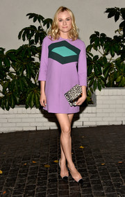 Diane Kruger looked good enough to eat in a candy colored shift dress at W Magazine's Golden Globes party!