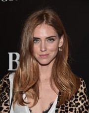 Chiara Ferragni kept it casual with this center-parted 'do with barely-there waves at the W Magazine Shooting Stars exhibit opening.