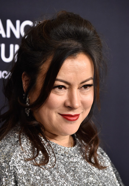 More Pics of Jennifer Tilly Half Up Half Down (1 of 6) - Jennifer Tilly Lookbook - StyleBistro [hair,face,hairstyle,eyebrow,lip,chin,lady,beauty,forehead,black hair,arrivals,jennifer tilly,beverly hills,california,beverly wilshire four seasons hotel,wcrf,an unforgettable evening]