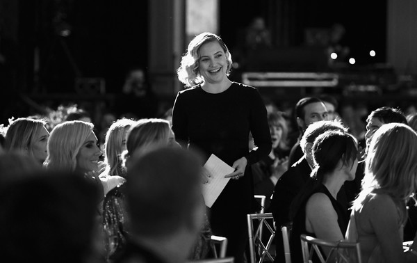 More Pics of Kate Hudson Dangling Gemstone Earrings (1 of 14) - Dangle Earrings Lookbook - StyleBistro [image,white,monochrome,photograph,black,people,black-and-white,crowd,monochrome photography,snapshot,event,kate hudson,color version,courage award,beverly wilshire four seasons hotel,california,beverly hills,wcrf,an unforgettable evening]