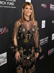 Lori Loughlin accessorized her dress with a Gucci double-G belt for WCRF's An Unforgettable Evening.