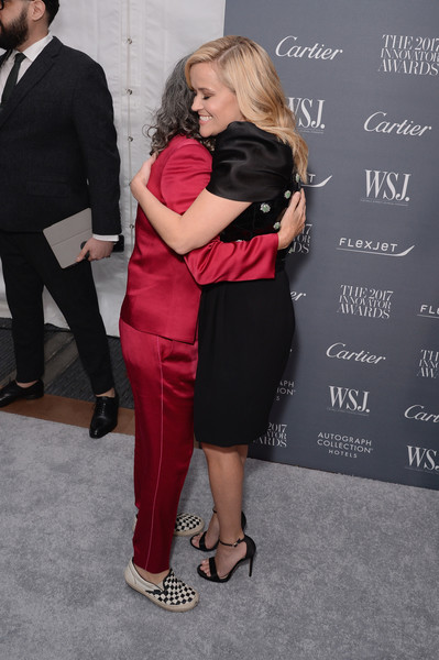 More Pics of Reese Witherspoon Statement Ring (1 of 15) - Decorative Rings Lookbook - StyleBistro [red,pink,interaction,event,dress,carpet,premiere,flooring,suit,arrivals,photographer,reece witherspoon,2017 innovator awards,cass bird,new york city,moma,wsj,magazine]