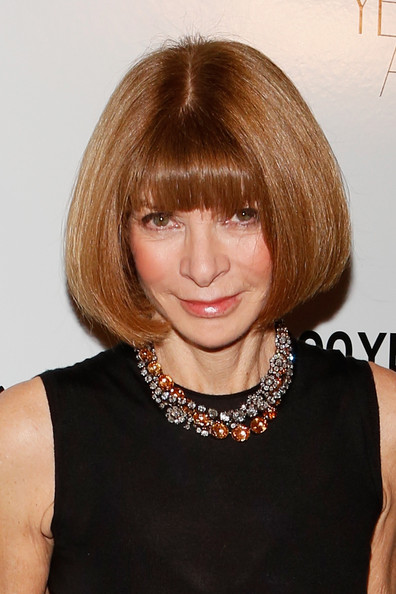More Pics of Anna Wintour Bob (1 of 6) - Anna Wintour Lookbook - StyleBistro [innovator of the year,innovator of the year awards,hair,face,hairstyle,blond,bob cut,bangs,chin,hair coloring,layered hair,brown hair,arrivals,anna wintour,editor-in-chief,american,moma,new york city,wsj,magazine]