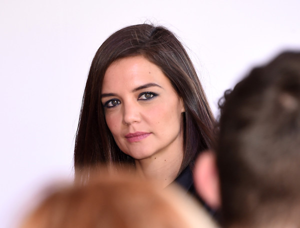 More Pics of Katie Holmes Leather Bracelet (1 of 49) - Bracelets Lookbook - StyleBistro [hair,face,skin,eyebrow,beauty,hairstyle,black hair,lip,head,long hair,arrivals,katie holmes,stylemakers,stylemakers,culver city,variety,wwd,wwd and variety,event,event]