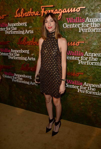 Gia Coppola was all punked out in a halterneck Ferragamo mini dress with gold studs during the Wallis Annenberg Center Inaugural Gala.