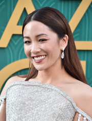 Constance Wu opted for a simple straight hairstyle when she attended the premiere of 'Crazy Rich Asians.'