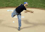 Ang Lee threw the first pitch between the NY Mets and the Washington Nationals.