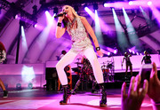 Gwen Stefani performed during We Can Survive 2014 wearing a sequined tank top and matching shorts.