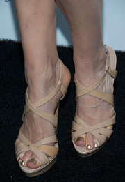 Christiane Seidel donned a pair of stylish nude strappy sandals for the Who What Wear event.