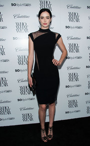 Krysten Ritter looked phenomenal in a Reem Acra LBD with sultry see-through panels during the Who What Wear event.