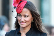 Pippa Middleton attends the wedding of Katie Percy to Patrick Valentine at St Michael's Church in Alnwick, Northumberland on February 26, 2011 in Alnwick, England. A friend of Prince William and Kate Middleton Lady Katie Percy, 28 who is the eldest daughter of the Duke and Duchess of Northumberland, will marry Patrick Valentine, 30, before a party at the family home Alnwick Castle.