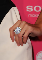 Paris showed off major bling while walking the carpet at the Hot Hollywood Awards. There's no better way to stand out than to show off a colossal sized cocktail ring.