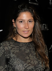 Stella Schnabel tied her hair half-up for the 'Miral' party.