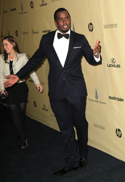 Sean Combs looked downright elegant in a black tux at the 2013 Golden Globes after-party.