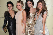 (L-R) Actresses Vanessa Hudgens, Ashley Tisdale, Selena Gomez and Sarah Hyland attend The Weinstein Company's 2013 Golden Globe Awards After Party at The Beverly Hilton hotel on January 13, 2013 in Beverly Hills, California.