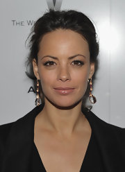 Berenice Bejo wore a pair of morganite and ruby drop earrings set in rose gold at the Weinstein Company Awards Season Party.