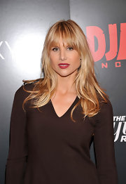 Lucy Punch attended the screening of 'Django Unchained' wearing her hair in subtle waves.