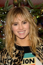 Suki Waterhouse sported wet-look waves with wispy bangs at the 'August: Osage County' private screening.