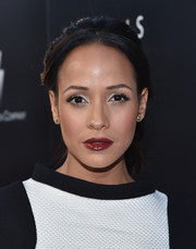 Dania Ramirez swiped on some dark red lipstick for a sexy finish to her beauty look.