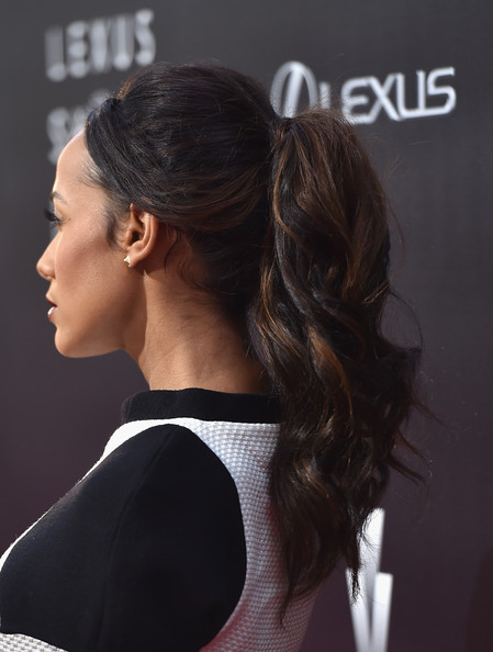Dania Ramirez wore a casual yet fab wavy ponytail at the Lexus Short Films event.