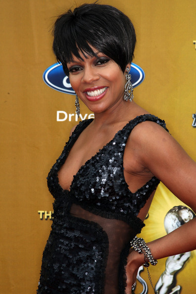Wendy Raquel Robinson Diamond Chandelier Earrings